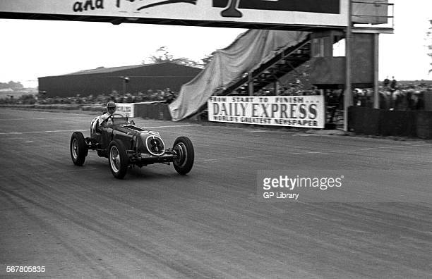 Bob Gerard driving an ERA which finished 11th at the British Grand Prix Silverstone England 14th July 1951