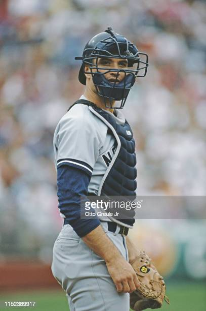 Bob Geren, catcher for the New York Yankees during the Major League Baseball American League West game against the Oakland Athletics on 16 May 1989...