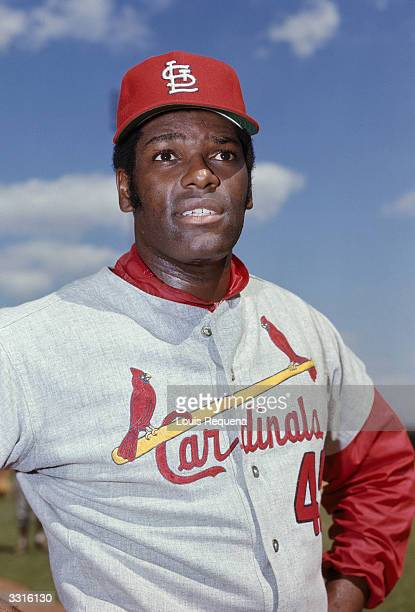 Bob Gibson of the St Louis Cardinals poses for a portrait in 1969