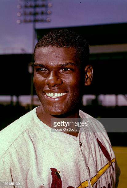 Bob Gibson of the St Louis Cardinals smiles in this portrait before a Major League Baseball game circa 1960 Gibson played for the Cardinals from...