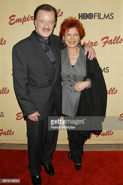 Bob Goulet and Vera Novak attend Empire Falls HBO Films New York Premiere Arrivals at Metropolitan Museum of Art NYC USA on May 9 2005