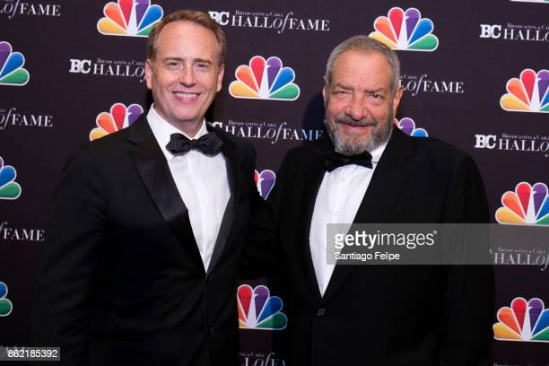 Bob Greenblatt and Dick Wolf attend the 2017 Broadcasting Cable Hall Of Fame 27th Anniversary Gala at Grand Hyatt New York on October 16 2017 in New...