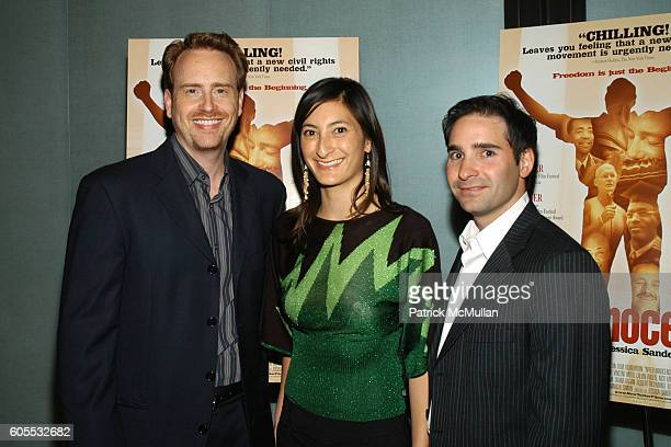 Bob Greenblatt Jessica Sanders and Marc Simon attend After Innocence West Coast Premiere at MGM Tower Theater on January 10 2006 in Los Angeles...