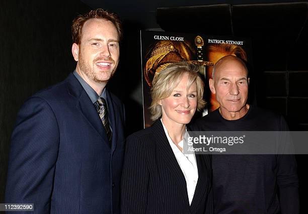 Bob Greenblatt of Showtime Network Glenn Close and Patrick Stewart