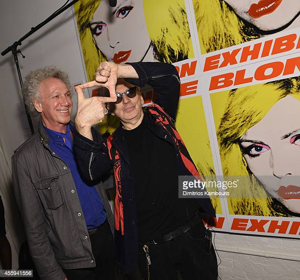 Bob Gruen and Chris Stein attend The 40th Anniversary Of Blondie exhibition at Chelsea Hotel Storefront Gallery on September 22, 2014 in New York...