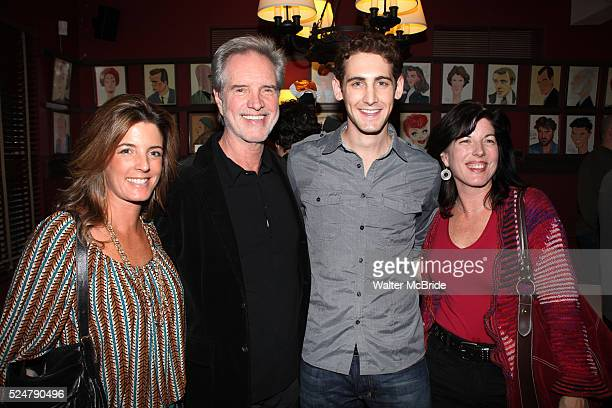 Bob Guardio with his daughters Danielle Lisa with actor Ryan Jesse attending the unveiling of the Sardi's Portraits of Frankie Valli Bob Gaudio...