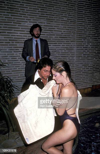 Bob Guccione and Danielle DeNeux during Party for Penthouse's 19811982 Pet of the Year at Bob Guccione's Manhattan Townhouse in New York City New...