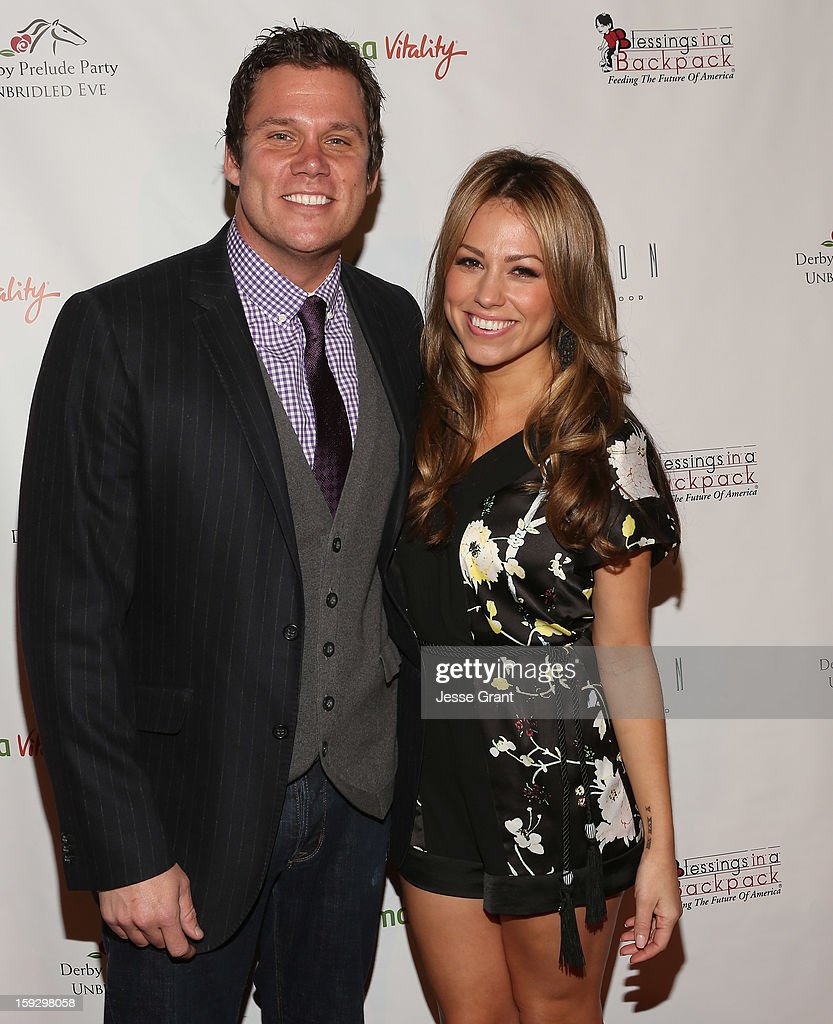 Bob Guiney and Jessica Hall attend The 4th Annual Unbridled Eve Derby Prelude Party at The London West Hollywood on January 10, 2013 in West Hollywood, California.