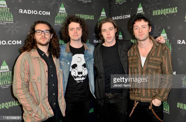 Bob Hall, Benji Blakeway, Van McCann, and Johnny Bond of Catfish and the Bottlemen attend KROQ Absolut Almost Acoustic Christmas 2019 at Honda Center...