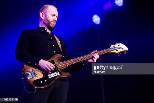 Bob Hardy of The English indie rock band Franz Ferdinand performing live at Lowlands Festival 2019 on 18 August 2019 in Biddinghuizen Netherlands