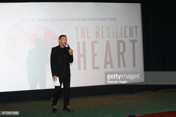 Bob Harper hosting the QA following the Tribeca Film Festival premiere for the feature documentary The Resilient Heart at the Tribeca Film Center on...