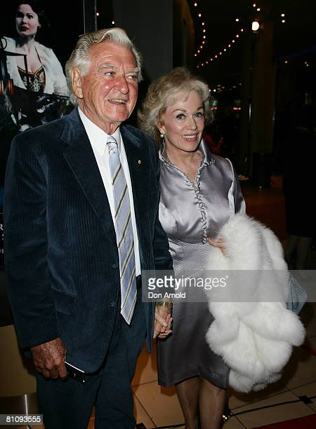 Bob Hawke and Blanche D'Alpuget attend the Sydney premiere of The Phantom of the Opera at the Lyric Theatre on May 15 2008 in Sydney Australia