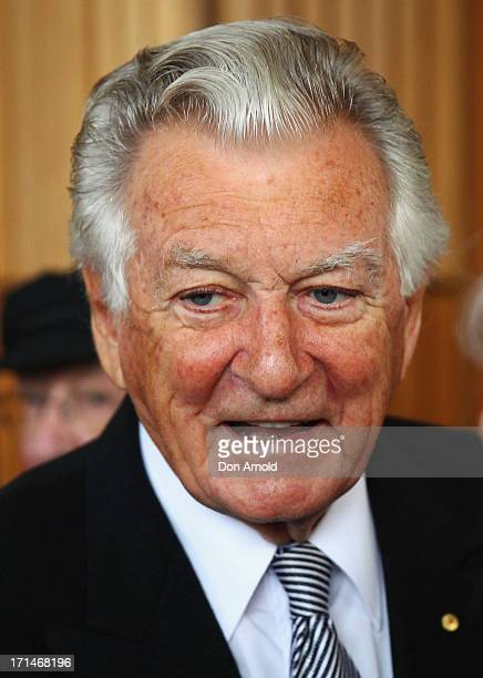Bob Hawke attends a state memorial service for the late Hazel Hawke exwife of former Australian Prime Minister Bob Hawke at the Sydney Opera House on...