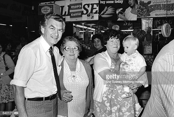 Bob Hawke campaigning in Sydney Road Melbourne for the federal seat of Wills on 2 November 1979. These pictures were for his campaign flyer. Mr...