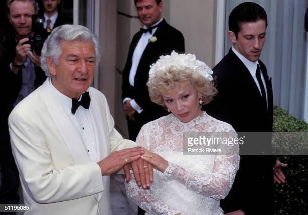 Bob Hawke Prime Minister of Australia and Blanche D'Alpuget's wedding in 1995 in Sydney Australia