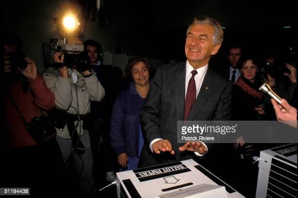 Bob Hawke Prime Minister of Australia during Labor Campaign in 1987 in Australia