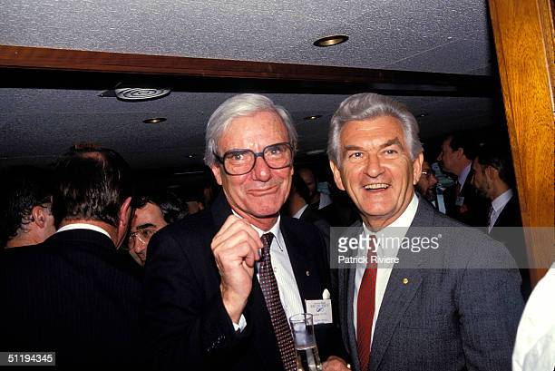 Bob Hawke Prime Minister of Australia launches the Maritime Museum in 1987 in Sydney Australia