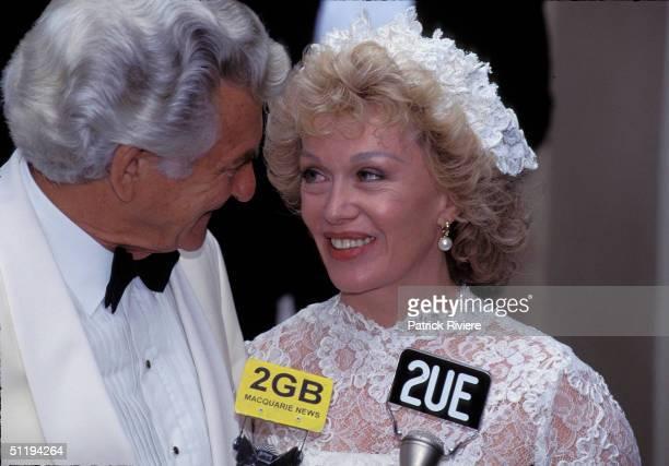 Bob Hawke Prime Minister of Australia marries Blanche D'Alpuget in 1995 in Sydney Australia