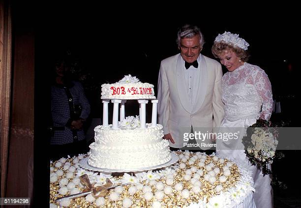 Bob Hawke Prime Minister of Australia marries Blanche D'Alpuget in 1995 in Sydney Australia