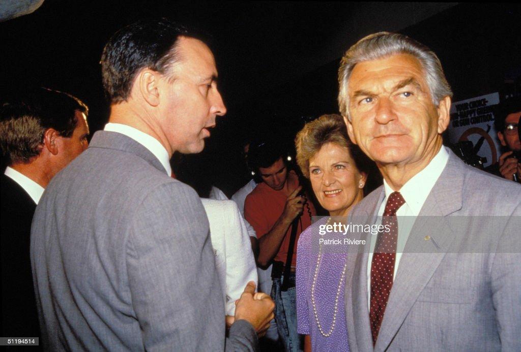 Bob Hawke, Prime Minister of Australia (1983 - 1991) : News Photo
