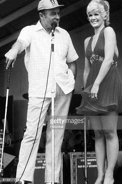 Bob Hope and Connie Stevens perform for members of the 25th Infantry Division Ch Chi Vietnam December 2226 1969 | Location Ch Chi Vietnam