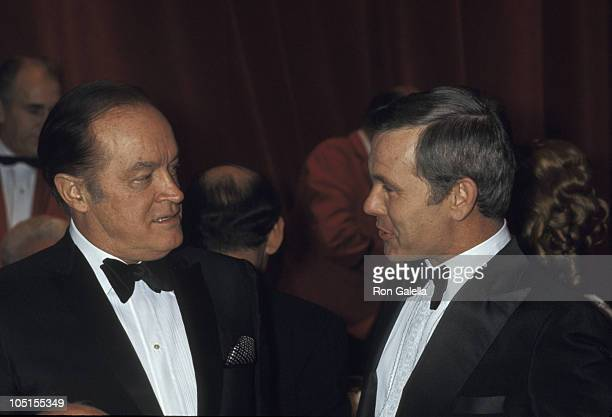 Bob Hope and Johnny Carson during Tribute to Toots Shor at New York Hilton Hotel in New York City NY United States