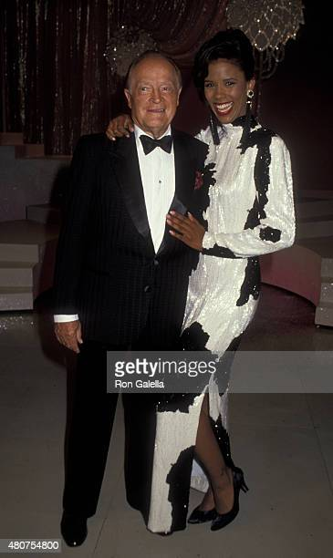 Bob Hope and Sondra Spriggs attend the taping of Bob Hope Special on September 4 1991 at NBC TV Studios in Burbank California