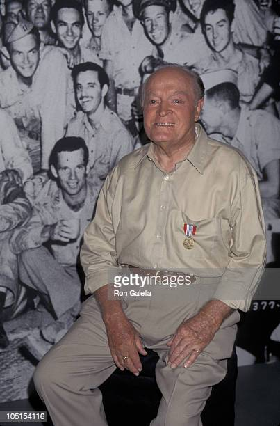 """Bob Hope during Press Conference For NBC Bob Hope Special """"Memories of WWII"""" at Home of Bob Hope in Toluca Lake, CA, United States."""