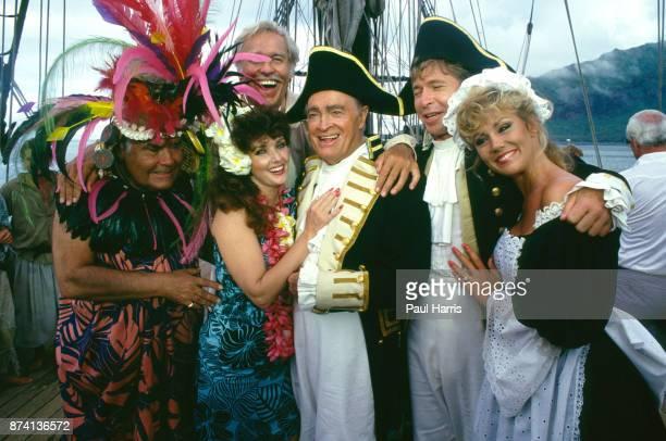 Bob Hope in Tahiti filming Bob Hopes Tropical Comedy from Tahiti' also in the show was Jonathan Winters Howard Keel Morgan Brittany John Denver and...