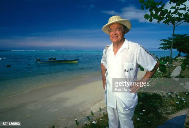 Bob Hope in Tahiti filming Bob Hopes Tropical Comedy from Tahiti' photographed on the beach April 13 1987 More Island Tahiti