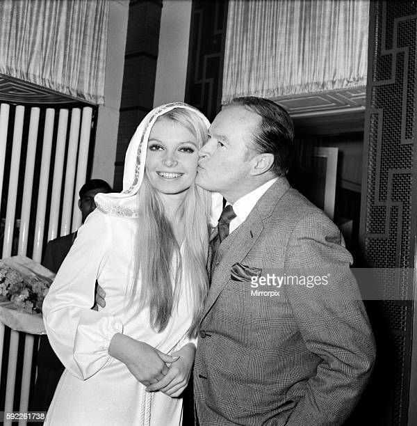 Bob Hope with Eva RueberStaier Miss World December 1969 Z11682