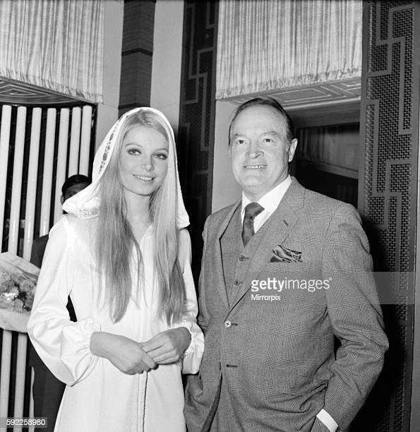 Bob Hope with Eva RueberStaier Miss World December 1969 Z11682003
