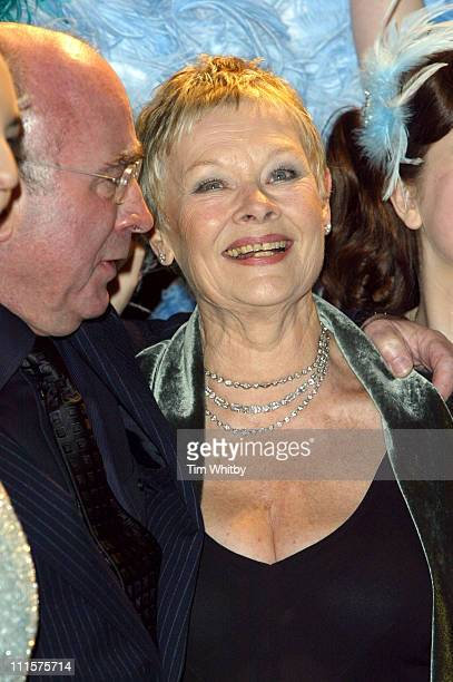 Bob Hoskins and Dame Judi Dench during Mrs Henderson Presents London Premiere at Vue West End in London Great Britain