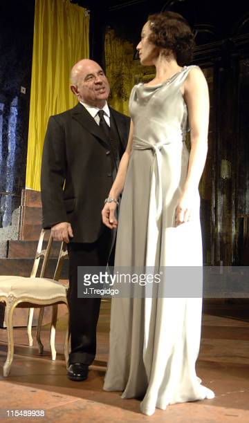 Bob Hoskins and Kristin Scott Thomas during 'As You Desire Me' Press Photocall at Playhouse Theatre in London Great Britain