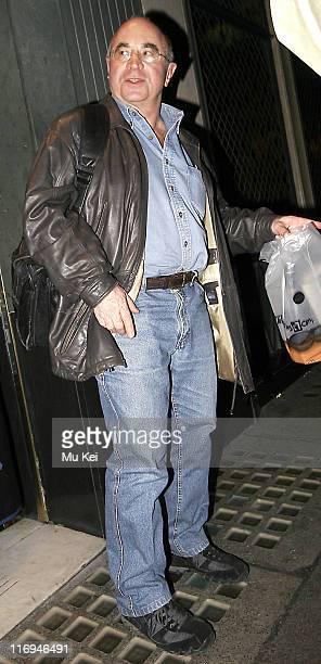 Bob Hoskins during Celebrity Sightings in Central London January 21 2006 at Central London in London Great Britain