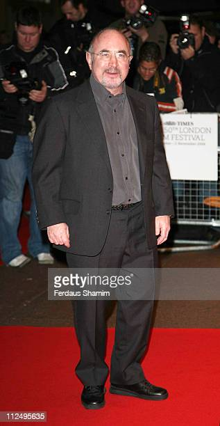 Bob Hoskins during The Times BFI London Film Festival 'Hollywoodland' Outside Arrivals at Odeon West End in London Great Britain