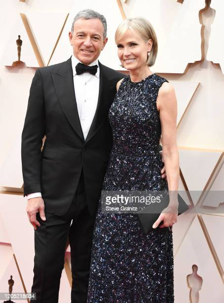 Bob Iger and Willow Bay arrives at the 92nd Annual Academy Awards at Hollywood and Highland on February 09 2020 in Hollywood California