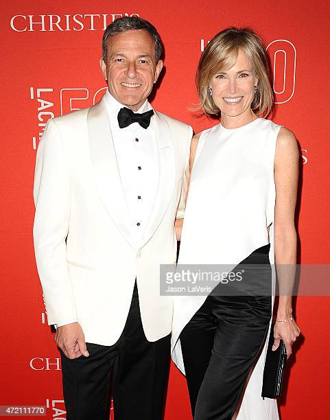 Bob Iger and Willow Bay attend LACMA's 50th anniversary gala at LACMA on April 18 2015 in Los Angeles California