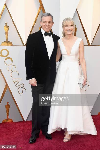 Bob Iger and Willow Bay attend the 90th Annual Academy Awards at Hollywood Highland Center on March 4 2018 in Hollywood California