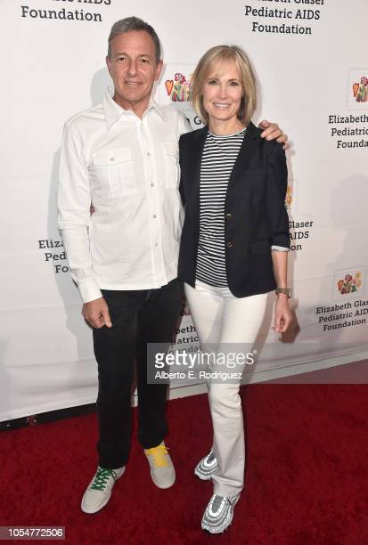 Bob Iger and Willow Bay attend the Elizabeth Glaser Pediatric Aids Foundation's 30th Anniversary A Time For Heroes Family Festival at Smashbox...