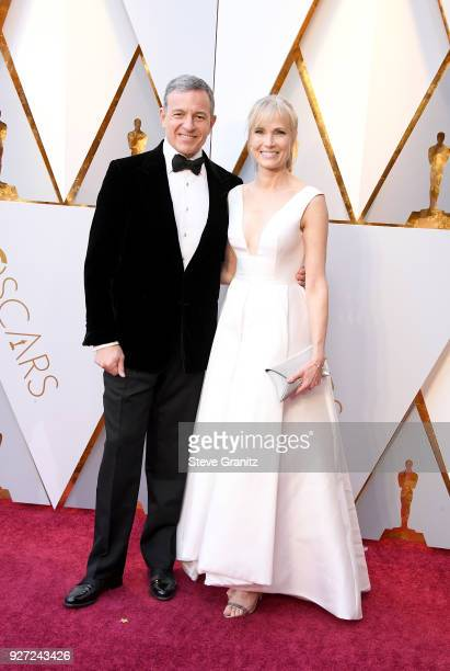 Bob Iger and Willow Bay attends the 90th Annual Academy Awards at Hollywood Highland Center on March 4 2018 in Hollywood California