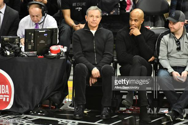 Bob Iger attends a basketball game between the Los Angeles Clippers and the Miami Heat at Staples Center on February 05 2020 in Los Angeles California