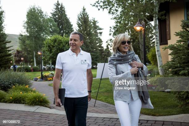 Bob Iger chairman and chief executive officer of The Walt Disney Company and his wife journalist Willow Bay attend the annual Allen Company Sun...