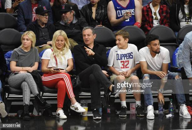 Bob Iger chairman and chief executive officer of The Walt Disney Company attends the basketball game between Los Angeles Clippers and Memphis...