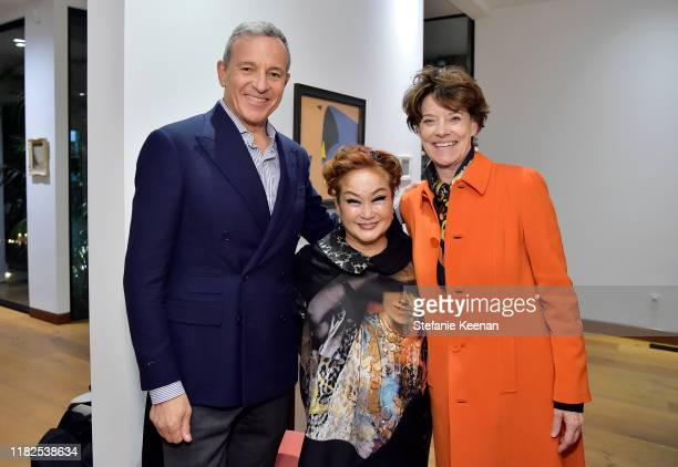 Bob Iger Miky Lee and Katharine DeShaw attend Academy Museum of Motion Pictures Celebrates Architect Renzo Piano Hosted by Bob Iger at the home of...