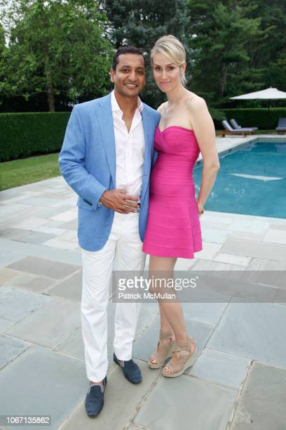 Bob Jain and Carola Jain attend Presidents Committee Party for Southampton Hospital Annual Summer Party at Private Residence on July 13 2013 in...