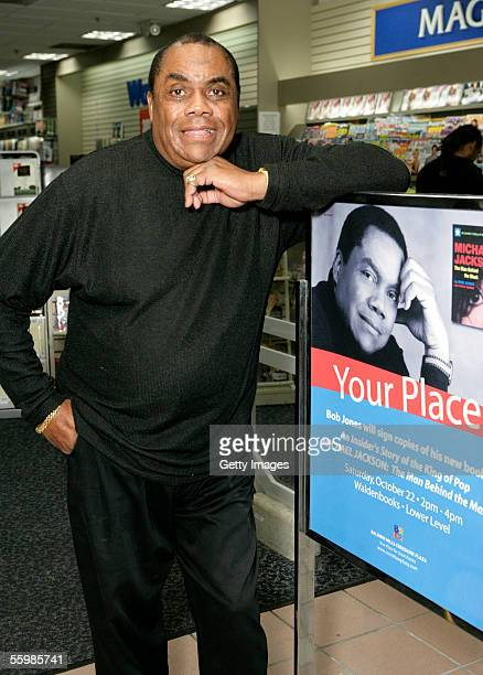 Bob Jones poses at a signing for his book Michael Jackson The Man behind the Mask at Waldenbooks October 22 2005 in Los Angeles California