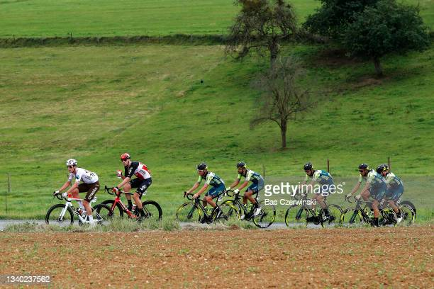 Bob Jungels of Luxembourg and AG2R Citröen Team, Frederik Frison of Belgium and Team Lotto Soudal, Leonardo Tortomasi of Italy and Team Vini Zabu'...
