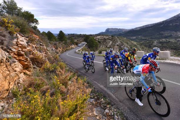 Bob Jungels of Luxembourg and Deceuninck - Quick-Step Team / Tim Declercq of Belgium and Deceuninck - Quick-Step Team / Yves Lampaert of Belgium and...