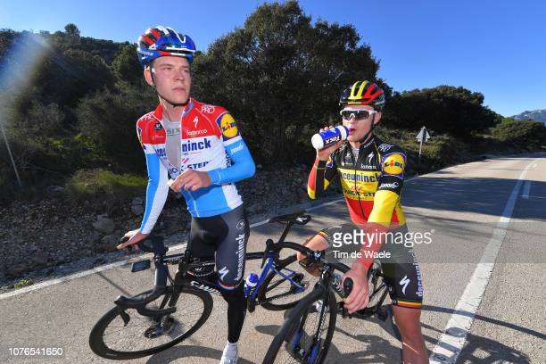 Bob Jungels of Luxembourg and Deceuninck - Quick-Step Team / Yves Lampaert of Belgium and Deceuninck - Quick-Step Team / Puerto de Sa Creueta / Feed...